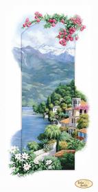 Схема для вишивання бісером на габардине Італійські пейзажи. Сардинія