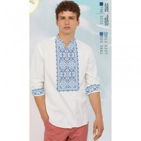Заготовка для вышивки мужской сорочки на белом льне Biser-Art 1598 - 435.00грн.