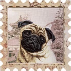 Набор для вышивки нитками Почтовая марка Мопс Новая Слобода (Нова слобода) КО4018-У - 275.00грн.