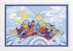 Набор для вышивания крестом Колядки Cristal Art ВТ-235 - 198.00грн.