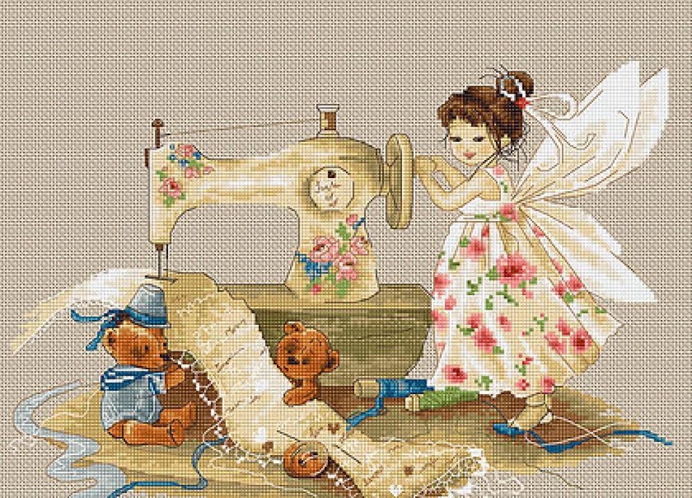 Вышивка маленькая фея