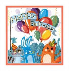 Набор для вышивания крестом С днем рождения! Cristal Art ВТ-183 - 207.00грн.