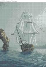 Схема для вышивки бисером на габардине В поисках Атлантиды Acorns А3-К-517