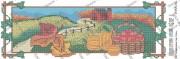 Схема вышивки бисером на атласе Панно Времена года. ОСЕНЬ