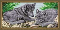 Набор для выкладки алмазной мозаикой Волки Art Solo АТ3211