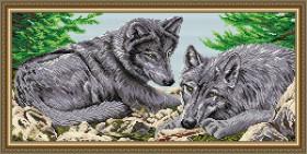 Набор для выкладки алмазной техникой Волки