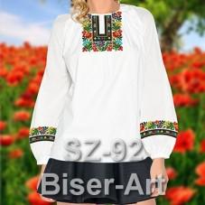 Заготовка для вышивки бисером Сорочка женская Biser-Art Сорочка жіноча SZ-92 (льон)