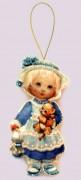 Набор для изготовления куклы из фетра для вышивки бисером Кукла. Англия
