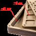 Органайзер для бисера многоярусный с крышкой FLZB-089 Волшебная страна FLZB-089
