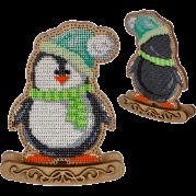 Набор для вышивки  бисером по дереву Пингвин