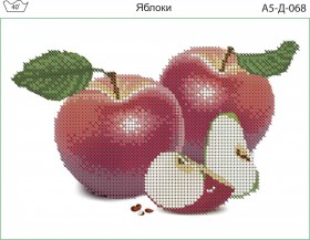 Схема для вышивки бисером на габардине Яблоки Acorns А5-Д-068 - 30.00грн.