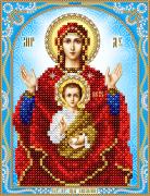 Схема для вышивки бисером на атласе Икона Божьей Матери Знамение