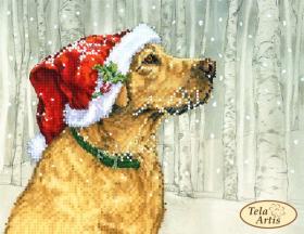 Схема вышивки бисером на атласе На прогулке, , 50.00грн., ТМ-120, Tela Artis (Тэла Артис), Собака символ 2018 года своими руками