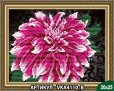 Рисунок на ткани для вышивки бисером Георгина Art Solo VKA4110B
