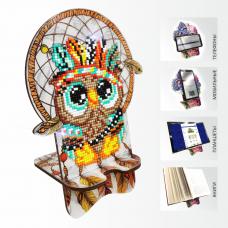 Подставка под телефон с алмазной мозаикой Совушка. Ловец снов Art Solo АРМ-11