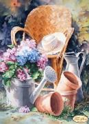 Схема для вышивки бисером на атласе Садовая романтика