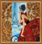 Набор для вышивки бисером Окно в Париж