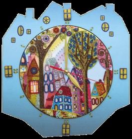 Набор для создание часов с вышитой основой Красочный город Новая Слобода (Нова слобода) РТ6514 - 435.00грн.