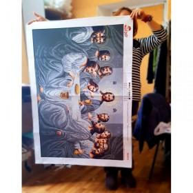 Схема вышивки бисером на габардине Тайна вечеря Biser-Art 75х110-4503 - 500.00грн.