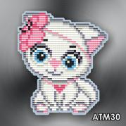 Магнит для выкладки алмазной мозайкой Кошечка