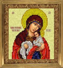 Набор для вышивки ювелирным бисером Икона Чаша терпения Краса и творчiсть 50913