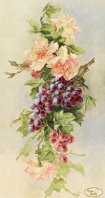 Рисунок на ткани для вышивки бисером Букет с виноградом Tela Artis (Тэла Артис) ТК-084 - 145.00грн.