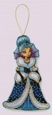 Набор для изготовления игрушки из фетра для вышивки бисером Снежная королева Баттерфляй (Butterfly) F118