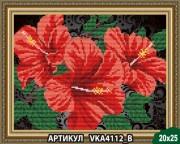 Рисунок на ткани для вышивки бисером Гибискус