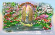 Схема для вышивки бисером на атласе Сад желаний