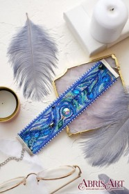 Набор для вышивки бисером украшение-браслет Перистое касание