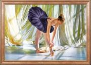 Схема вышивки бисером на габардине Балерина