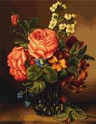 Набор для вышивки крестом Ваза с розами и цветами