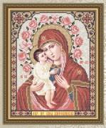 Схема для вышивки бисером на габардине Богородица Жировицкая