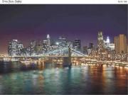 Схема для вышивки бисером на габардине Огни Нью-Йорка