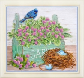Набор для вышивки нитками (стиль Rococo) Клевер в саду
