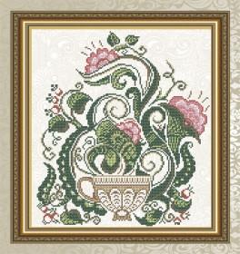 Схема для вышивки бисером на габардине Цветочный чай Art Solo VKA4711 - 78.00грн.