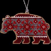 Набор дляя вышивки бисером по дереву Медведь