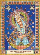 Схема для вышивки бисером на холсте Богородица Остробрамская