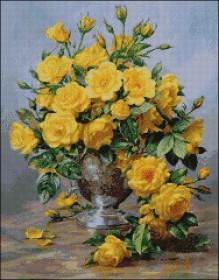 Схема вышивки бисером на атласе Жёлтые розы Эдельвейс А-2-076 Атлас - 152.00грн.
