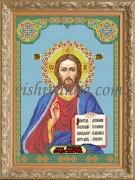 Рисунок на габардине для вышивки бисером Икона Господь Вседержитель