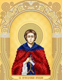 Схема для вышивки бисером на атласе Святой Преподобный Аркадий