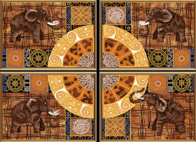 Схема для вышивки бисером на атласе Колесо фортуны (4 части) Новая Слобода (Нова слобода) В40007 - 201.00грн.