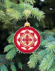 Набор для вышивки нитками Новогодняя игрушка Снежиночка Чарiвна мить (Чаривна мить) Т-11