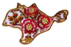 Набор - магнит для вышивки бисером Карта Украины АР Крым, , 49.00грн., АМК-001, Абрис Арт, Украина
