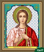 Схема вышивки бисером на габардине Святая Вера