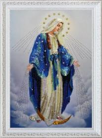 Набор для вышивки бисером Пресвятая Дева Мария, , 601.00грн., Р-283, Картины бисером, Иконы 26*35 (А3)