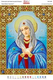 Схема для вышивки бисером на габардине Божа Матір Умиління Вишиванка БА3-466 - 55.00грн.