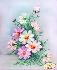 Набор для вышивки лентами Космея Tela Artis (Тэла Артис) ЛТ-002 - 190.00грн.