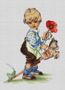 Набор для вышивки крестом Мальчик