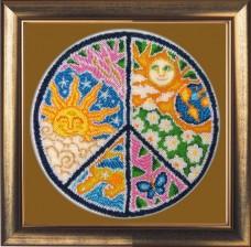 Набор для вышивки бисером Мандала мира Баттерфляй (Butterfly) 119Б